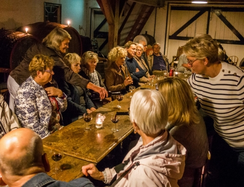 Wijn proeven in de polder